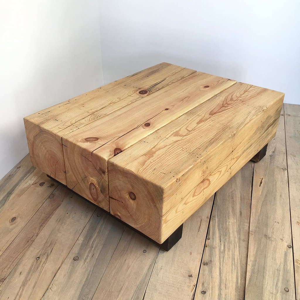Timber Block Coffee Table Bench Woodswan Cube C101