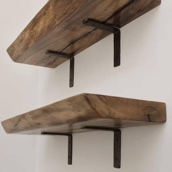 Wooden Live Edge Shelf - Open Floating Shelf - LEDGE L102