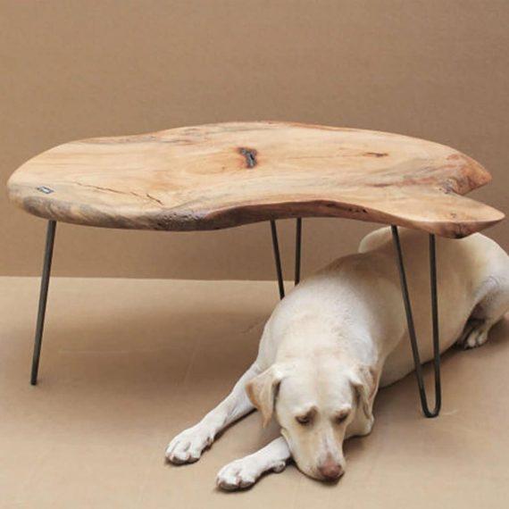 Pecan Hairpin Coffee Table - WOODSWAN - Plateau PL102