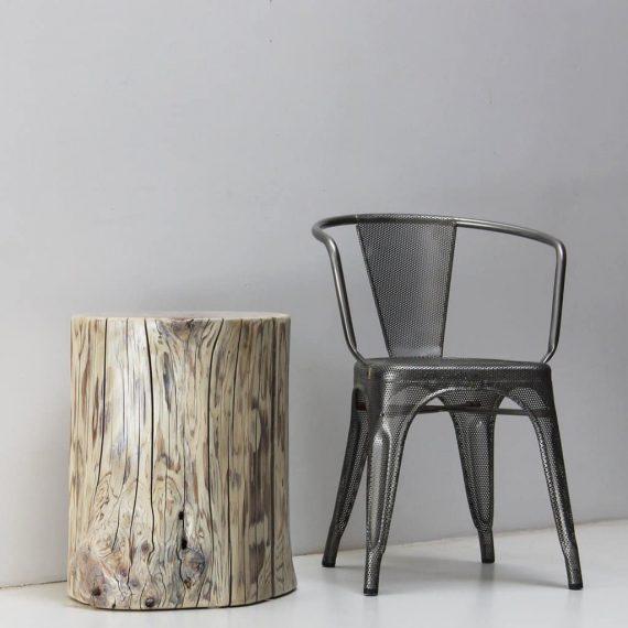 White Cedar Tree Stump Stool Side Table - WOODSWAN - Rescue R103