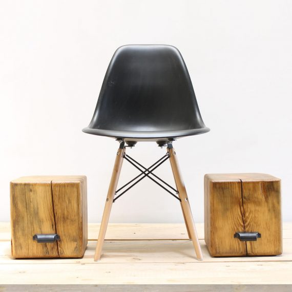 Timber Block Step Stool Side Table - WOODSWAN - CUBE C103